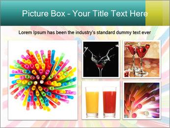 Flexible straws PowerPoint Template - Slide 19