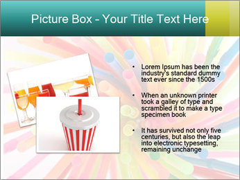 Flexible straws PowerPoint Template - Slide 20