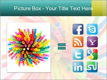 Flexible straws PowerPoint Template - Slide 21