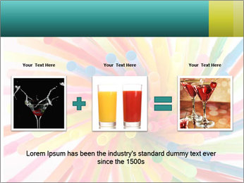 Flexible straws PowerPoint Template - Slide 22