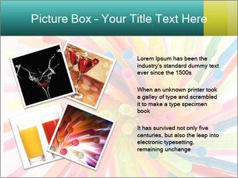 Flexible straws PowerPoint Template - Slide 23