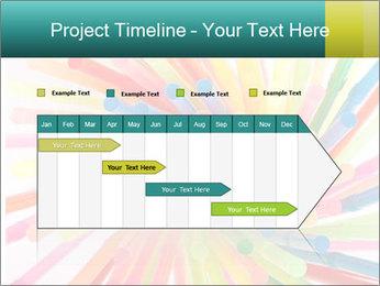 Flexible straws PowerPoint Template - Slide 25