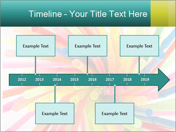 Flexible straws PowerPoint Template - Slide 28