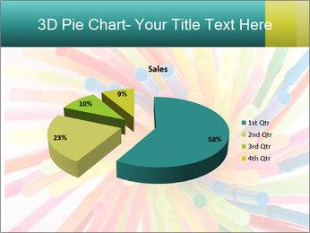 Flexible straws PowerPoint Template - Slide 35