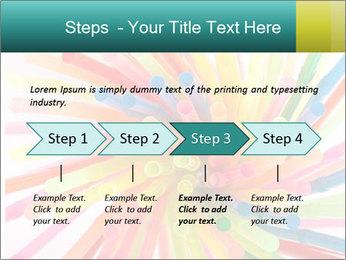 Flexible straws PowerPoint Template - Slide 4