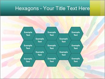 Flexible straws PowerPoint Template - Slide 44