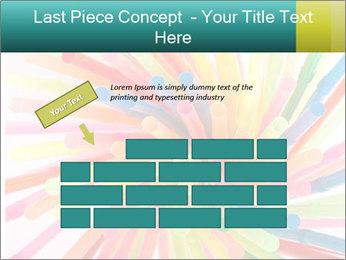 Flexible straws PowerPoint Template - Slide 46