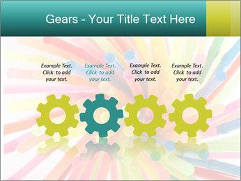 Flexible straws PowerPoint Template - Slide 48