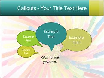 Flexible straws PowerPoint Template - Slide 73