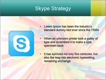 Flexible straws PowerPoint Template - Slide 8
