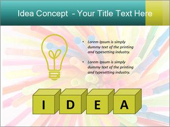 Flexible straws PowerPoint Template - Slide 80