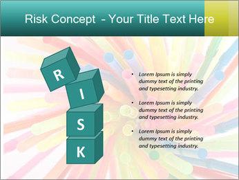 Flexible straws PowerPoint Template - Slide 81