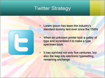 Flexible straws PowerPoint Template - Slide 9
