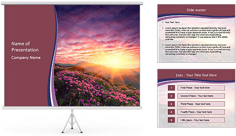 Spring landscape in mountains PowerPoint Template