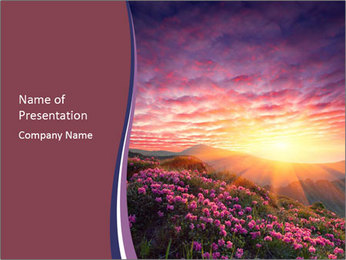 Spring landscape in mountains PowerPoint Templates - Slide 1