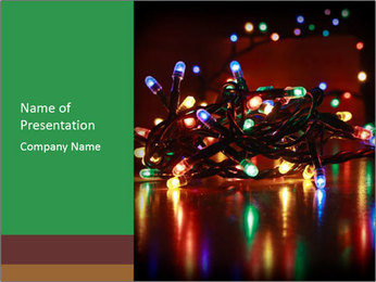 Colored lights PowerPoint Template - Slide 1