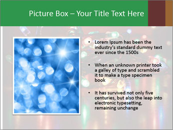 Colored lights PowerPoint Template - Slide 13