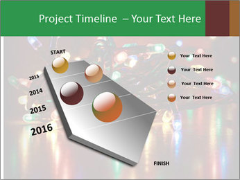 Colored lights PowerPoint Template - Slide 26