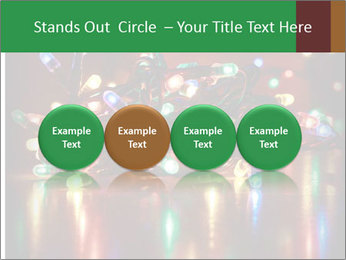 Colored lights PowerPoint Template - Slide 76