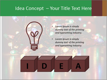 Colored lights PowerPoint Template - Slide 80