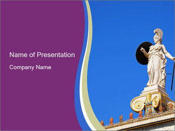 Athena statue PowerPoint Template - Slide 1