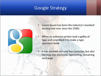 An angry fist punching water PowerPoint Template - Slide 10