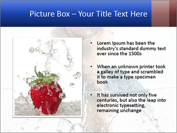 An angry fist punching water PowerPoint Template - Slide 13