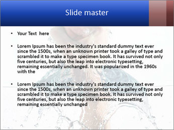 An angry fist punching water PowerPoint Templates - Slide 2