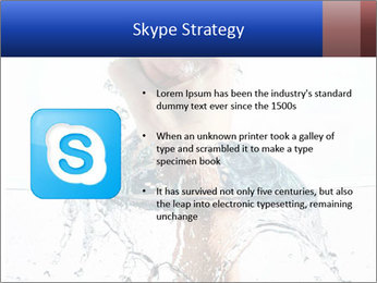 An angry fist punching water PowerPoint Template - Slide 8