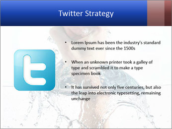 An angry fist punching water PowerPoint Templates - Slide 9