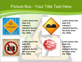 Robot with danger PowerPoint Template - Slide 14
