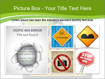 Robot with danger PowerPoint Template - Slide 19