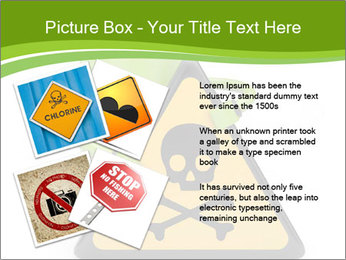 Robot with danger PowerPoint Template - Slide 23