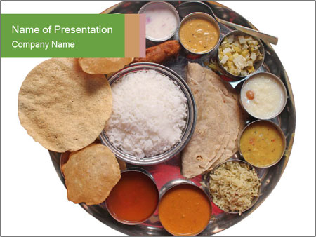 Traditional vegetarian indian PowerPoint Template