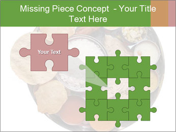 Traditional vegetarian indian PowerPoint Template - Slide 45