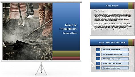 Asphalt worker PowerPoint Template