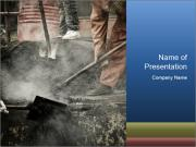 Asphalt worker PowerPoint Template