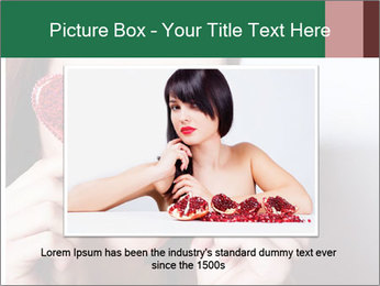 Brunette girl with red hearts PowerPoint Template - Slide 16