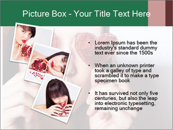 Brunette girl with red hearts PowerPoint Template - Slide 17