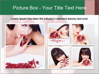 Brunette girl with red hearts PowerPoint Template - Slide 19