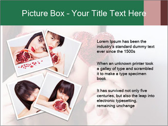 Brunette girl with red hearts PowerPoint Template - Slide 23