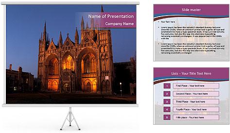 United Kingdom, night PowerPoint Template
