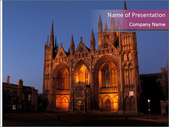 United Kingdom, night PowerPoint Templates - Slide 1