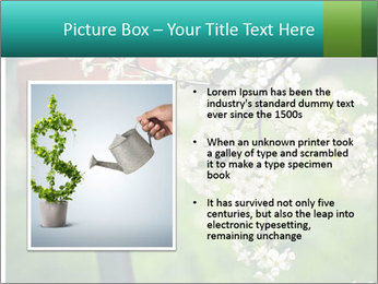 Blooming cherry branch and shovel PowerPoint Templates - Slide 13