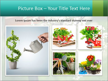 Blooming cherry branch and shovel PowerPoint Templates - Slide 19
