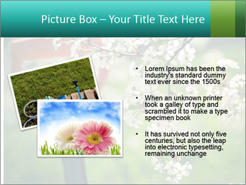 Blooming cherry branch and shovel PowerPoint Templates - Slide 20