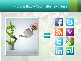 Blooming cherry branch and shovel PowerPoint Templates - Slide 21