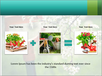 Blooming cherry branch and shovel PowerPoint Templates - Slide 22