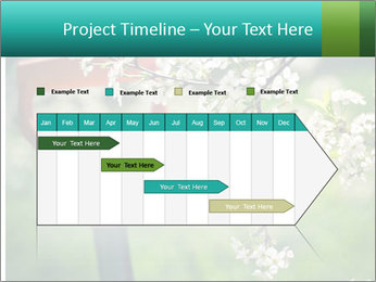 Blooming cherry branch and shovel PowerPoint Templates - Slide 25