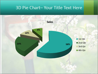 Blooming cherry branch and shovel PowerPoint Templates - Slide 35